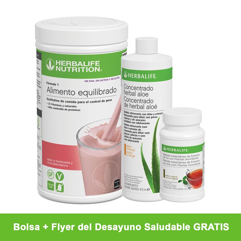 Herbalife Himbeere und weiße Schokolade Gesundes Frühstücksprogramm 550 g