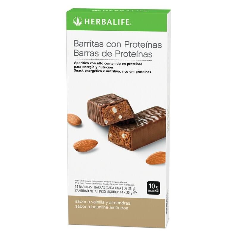 Barritas con proteínas Vainilla con Almendras Caja 14 barritas