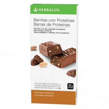 Barres protéinées au chocolat et aux arachides Boîte 14 barres