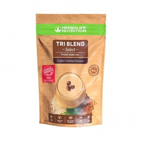 Tri Blend Select - Mezcla para Batido de Proteínas Café Caramelo 600 g